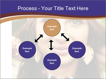 Smiling beautiful girl PowerPoint Template - Slide 91