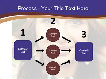 Smiling beautiful girl PowerPoint Template - Slide 92