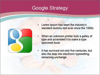 Newborn twins PowerPoint Template - Slide 10
