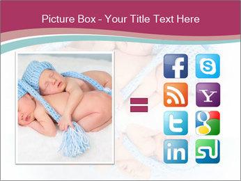 Newborn twins PowerPoint Template - Slide 21