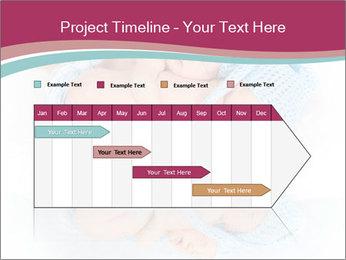 Newborn twins PowerPoint Template - Slide 25