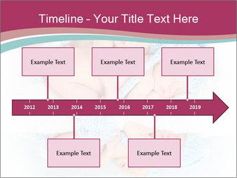 Newborn twins PowerPoint Template - Slide 28