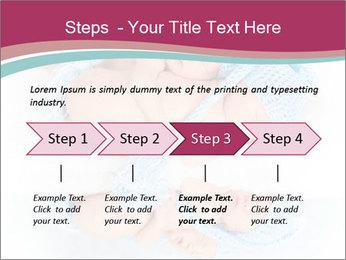 Newborn twins PowerPoint Template - Slide 4