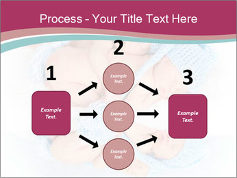 Newborn twins PowerPoint Template - Slide 92