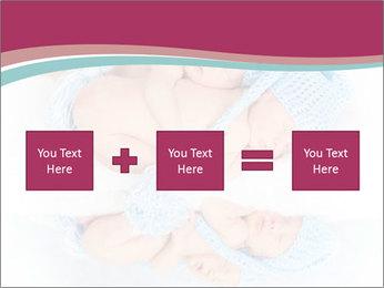 Newborn twins PowerPoint Template - Slide 95