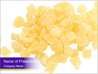 Dried pineapple PowerPoint Template - Slide 1