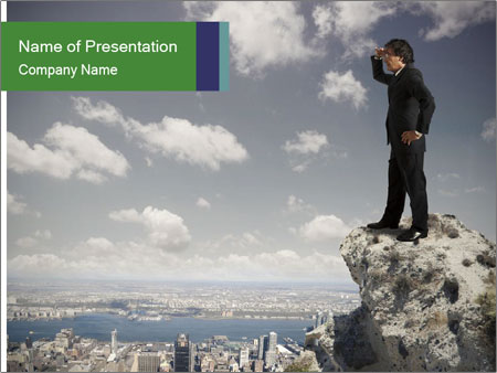 Senior businessman PowerPoint Template