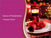 Christmas Table PowerPoint Template
