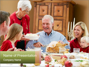 Multi Generation Family PowerPoint Templates - Slide 1