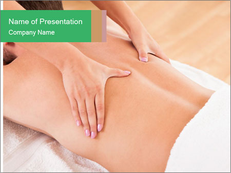 Stomach in a spa PowerPoint Templates