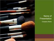 Make-up brushes PowerPoint Templates