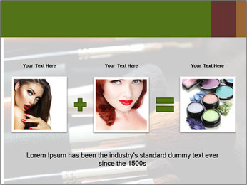 Make-up brushes PowerPoint Templates - Slide 22