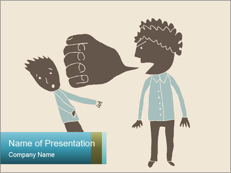 Verbal bullying PowerPoint Template