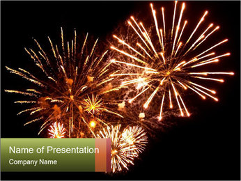 Fireworks PowerPoint Template - Slide 1