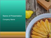 Pears pie PowerPoint Templates