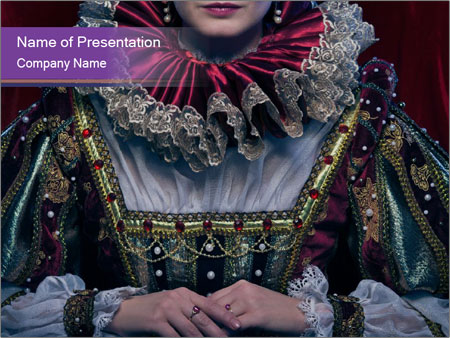 Queen in royal dress PowerPoint Template