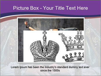 Queen in royal dress PowerPoint Template - Slide 16