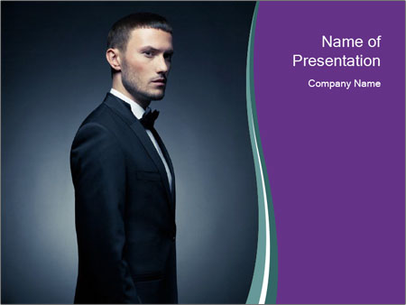 Stylish man PowerPoint Templates