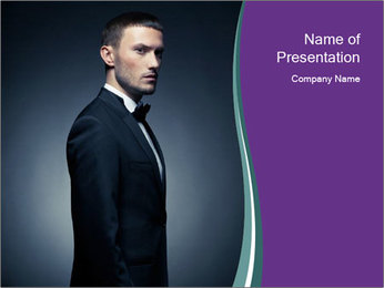Stylish man PowerPoint Templates - Slide 1