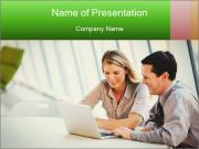 Meeting Around Table PowerPoint Template