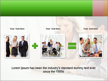 Meeting Around Table PowerPoint Template - Slide 22