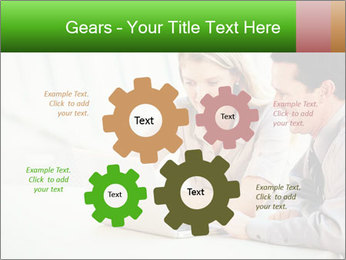 Meeting Around Table PowerPoint Template - Slide 47