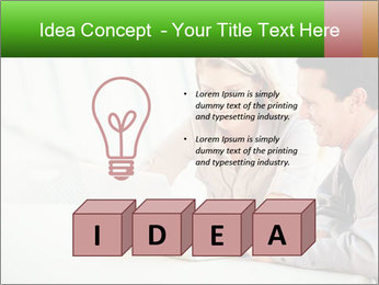 Meeting Around Table PowerPoint Template - Slide 80