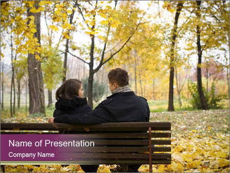 Young couple sitting PowerPoint Templates