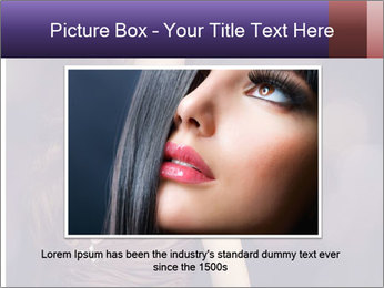 Woman with Healthy Long Hair PowerPoint Template - Slide 16