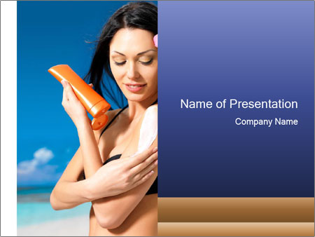 Beautiful young woman PowerPoint Templates