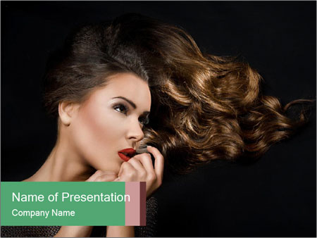 Pretty girl PowerPoint Template