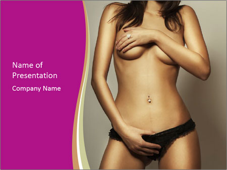 Attractive nude girl PowerPoint Templates