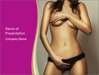 Attractive nude girl PowerPoint Templates - Slide 1
