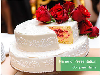 Wedding cake PowerPoint Template - Slide 1
