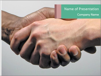 Hand Shake PowerPoint Template - Slide 1