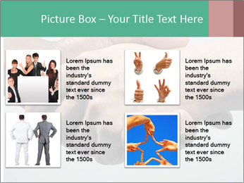 Hand Shake PowerPoint Template - Slide 14