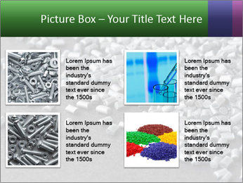 Silver metallic polymer PowerPoint Template - Slide 14