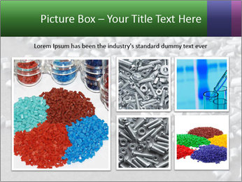 Silver metallic polymer PowerPoint Template - Slide 19