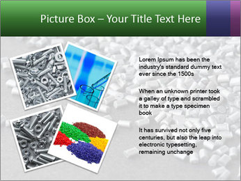 Silver metallic polymer PowerPoint Template - Slide 23
