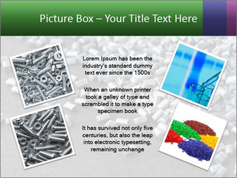 Silver metallic polymer PowerPoint Template - Slide 24