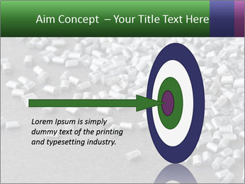 Silver metallic polymer PowerPoint Template - Slide 83