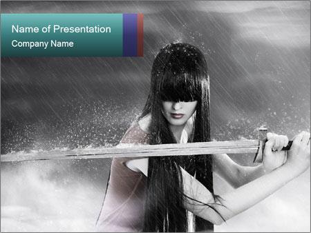 Samurai Girl PowerPoint Template