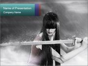 Samurai Girl PowerPoint Templates