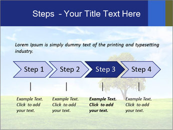 Tree and blue sky PowerPoint Template - Slide 4