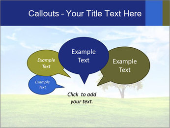 Tree and blue sky PowerPoint Template - Slide 73