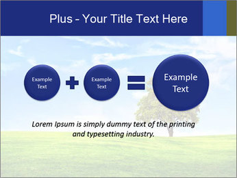 Tree and blue sky PowerPoint Template - Slide 75