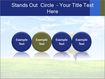 Tree and blue sky PowerPoint Template - Slide 76