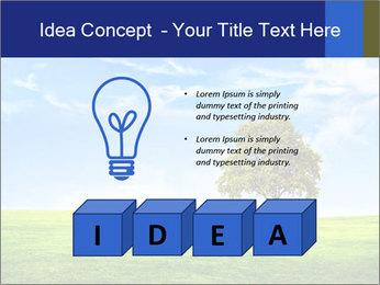 Tree and blue sky PowerPoint Template - Slide 80