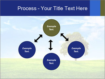 Tree and blue sky PowerPoint Template - Slide 91