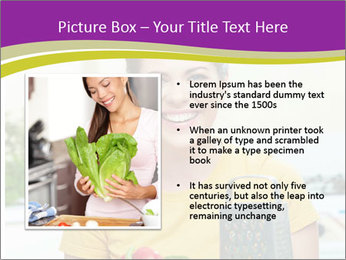 Happy woman in kitchen PowerPoint Template - Slide 13